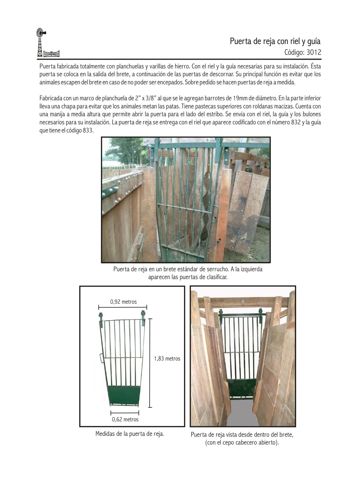 Puerta de reja con riel y guia agroventas - Puertas de reja ...